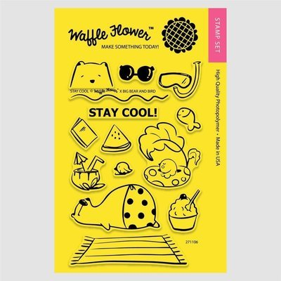 Waffle Flower STAY COOL Clear Stamp Set