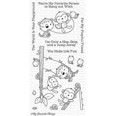 My Favorite Things JUNGLE GYM Clear Stamp Set