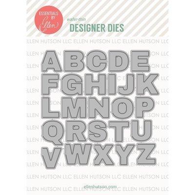 Essentials By Ellen HINGED ALPHABETS Designer Die