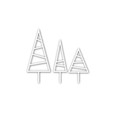 Simon Says Stamp LINED TREES Die Set