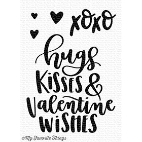 My Favorite Things VALENTINE WISHES Clear Stamp Set