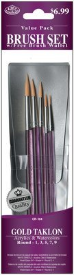 Royal Brush GOLDEN TAKLON Brush Set