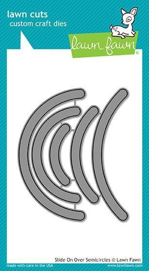 Lawn Fawn SLIDE ON OVER SEMICIRCLES Die Set