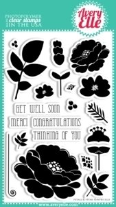Avery Elle Petals and Stems Clear Stamps
