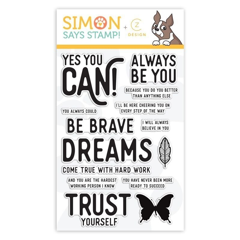 Simon Says Stamp YES YOU CAN Clear Stamp