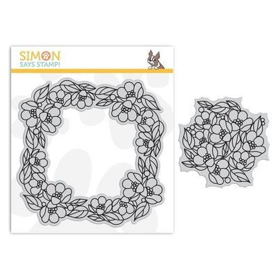 Simon Says Stamp CENTER CUT FLOWERS Cling Stamp Set