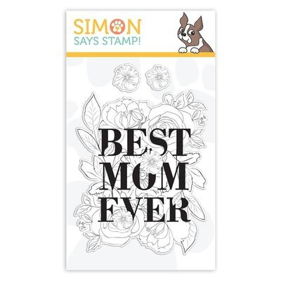 Simon Says Stamp BEST MOM Clear Stamp Set
