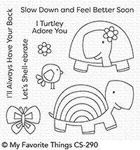 My Favorite Things TOO-CUTE TURTLES Clear Stamp Set