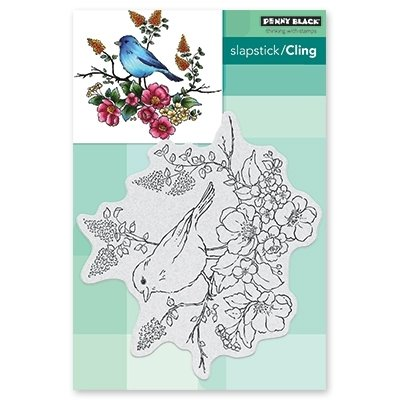 Penny Black FLOWER PERCH Cling Stamp