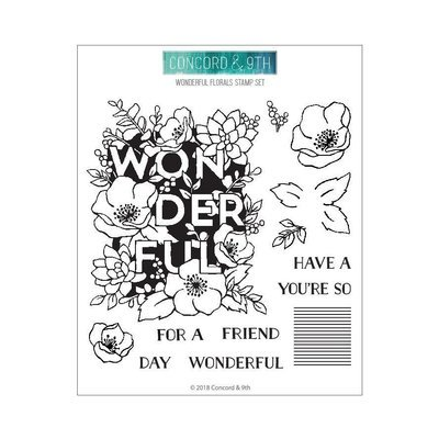 Concord & 9th WONDERFUL FLORALS Stamp Set