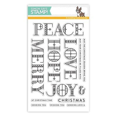 Simon Says Stamp STAINED GLASS GREETINGS Clear Stamp Set