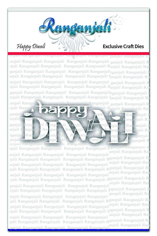 Ranganjali HAPPY DIWALI Words Exclusive Craft Die Set