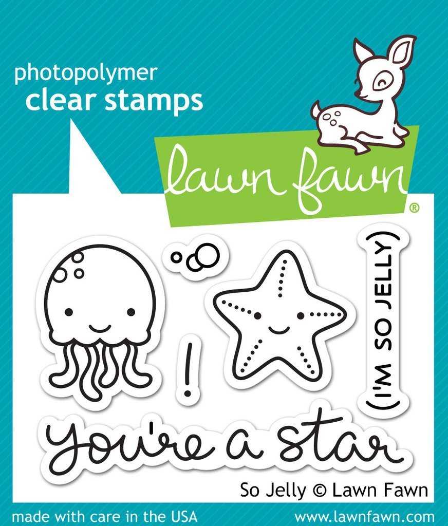 Lawn Fawn SO JELLY Clear Stamp Set