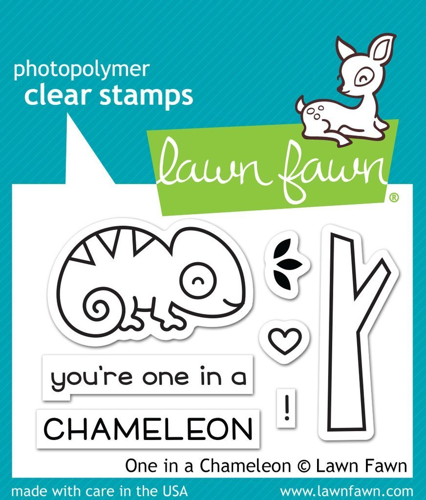Lawn Fawn ONE IN CHAMELEON Clear Stamp Set