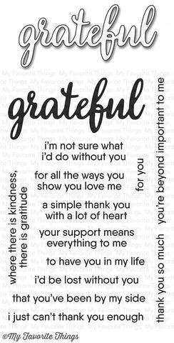 My Favorite Things GRATEFUL FOR YOU Clear Stamp Set