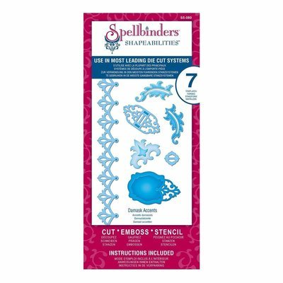 Spellbinders Shapeabilities DAMASK ACCENTS Etched Dies
