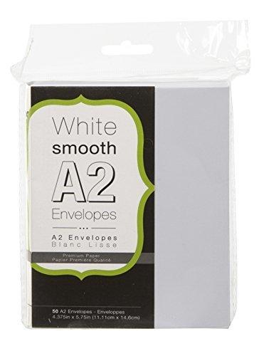 Darice WHITE SMOOTH A2 Envelopes- 50/pk