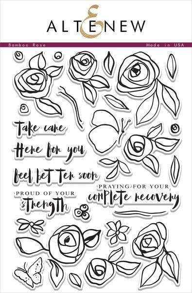 Altenew BAMBOO ROSE Clear Stamp Set