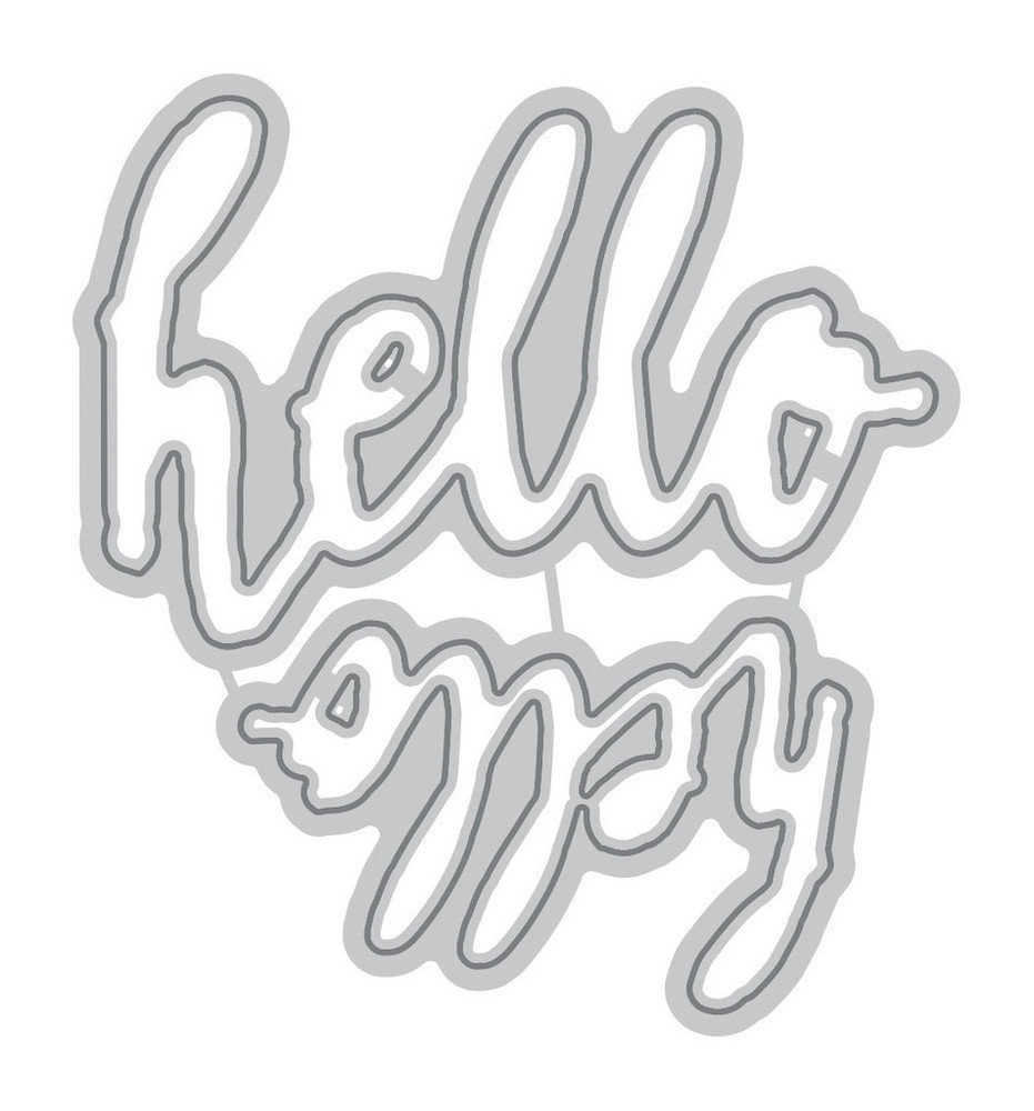 Altenew HALFTONE HELLO Die Set