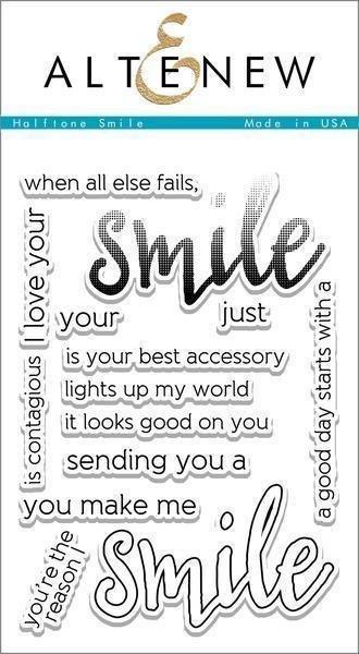Altenew HALFTONE SMILE Clear Stamp Set