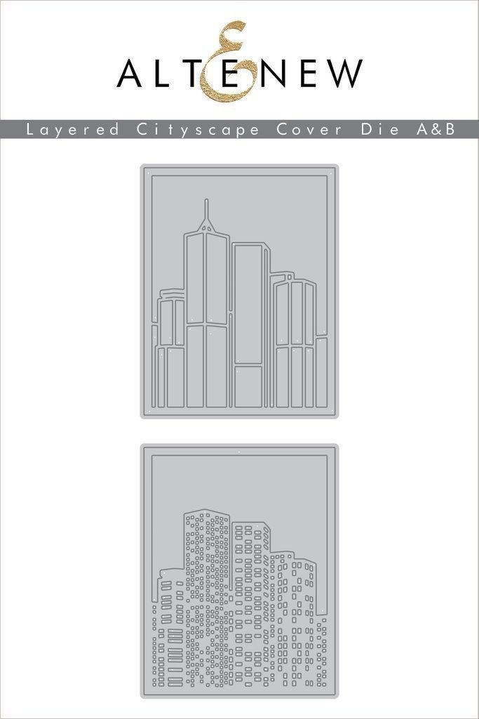 Altenew Layered Cityspace Cover Die A & B bundle