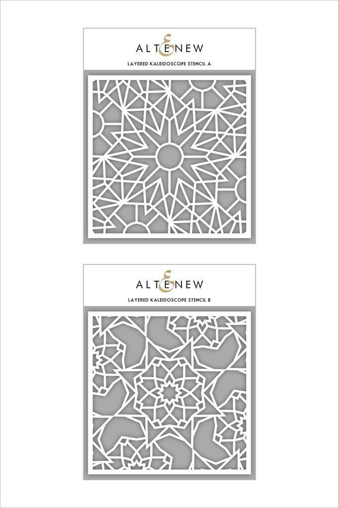 Altenew Layered Kaleidoscope A & B Stencil Bundle