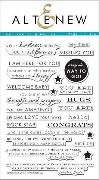 Altenew SENTIMENTS & QUOTES Clear Stamp Set
