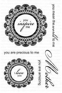 Clearly Besotted DELIGHTFUL DOILIES Clear Stamp Set