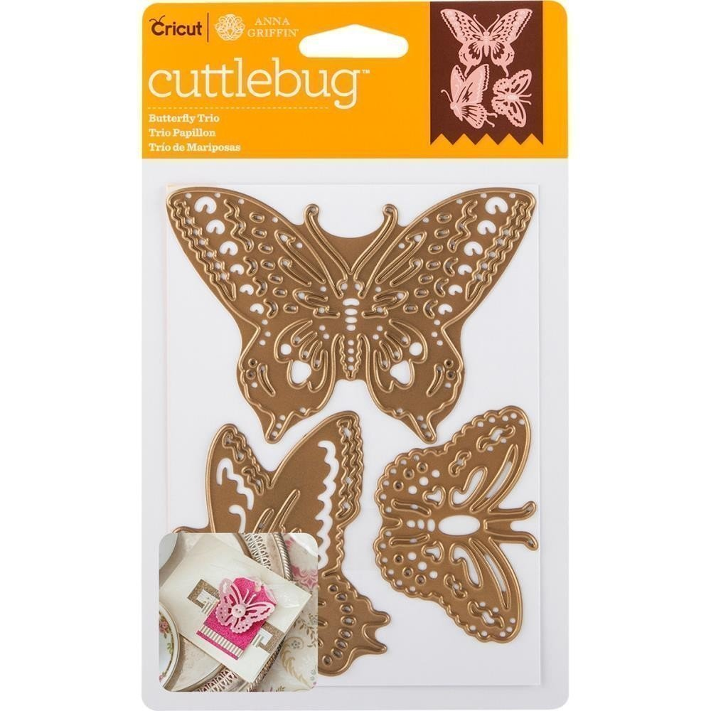 Cuttlebug BUTTERFLY TRIO Cut and Emboss Die Set