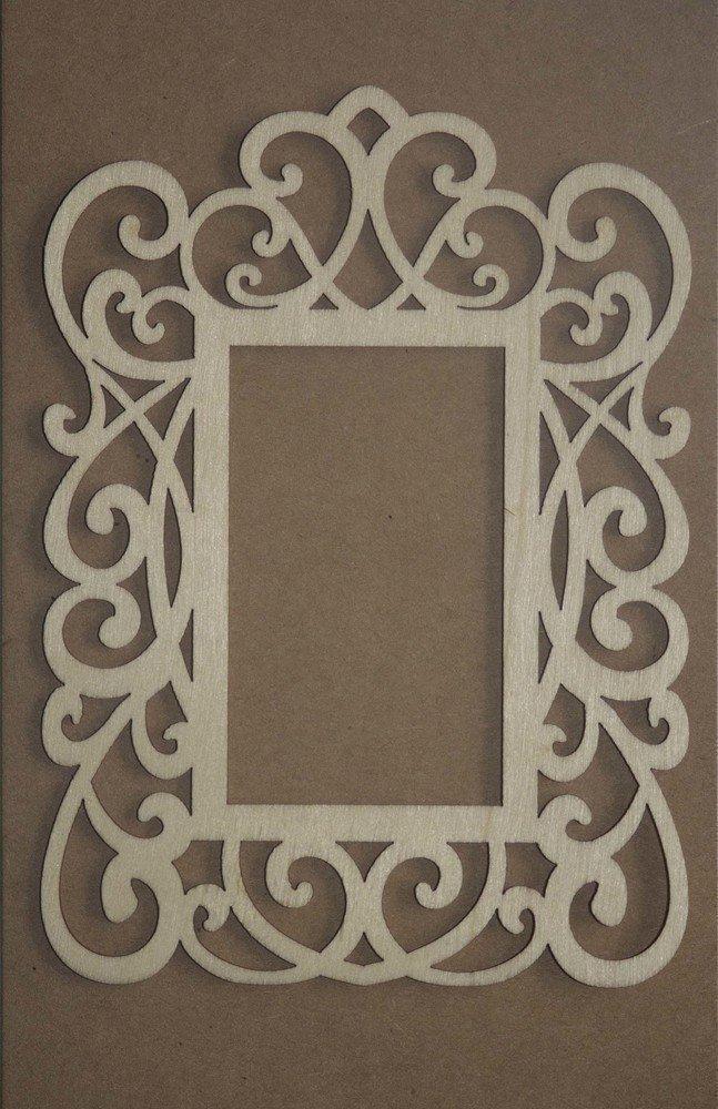 Decorative SQUARE Frame Laser Cut Wood Veneer Shapes