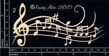 Dusty Attic MUSIC FLOURISH #2 Lasercut Designs