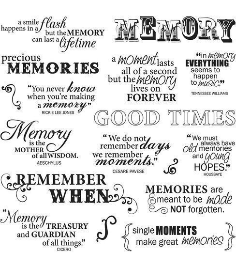 Fiskar GOOD TIMES QUOTES Clear Stamp Set