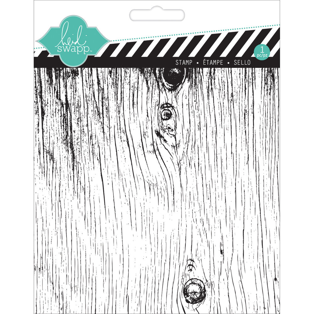 Heidi Swapp WOODGRAIN Mixed Media Clear Stamp