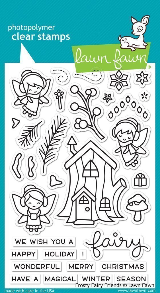Lawn Fawn FROSTY FAIRY FRIENDS Clear Stamp Set