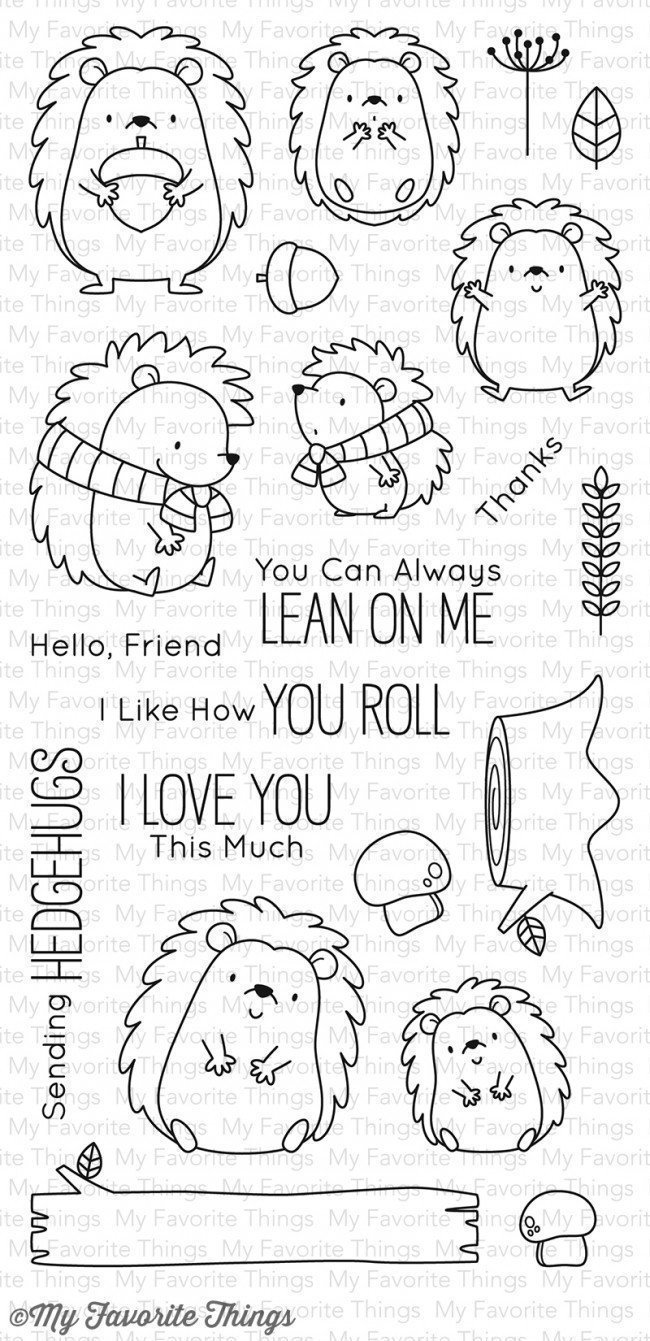 My Favorite Things BB HAPPY HEDGEHOGS Clear Stamp