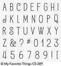 My Favorite Things BIRDIE BROWN ALPHABET & NUMBERS Clear Stamp Set