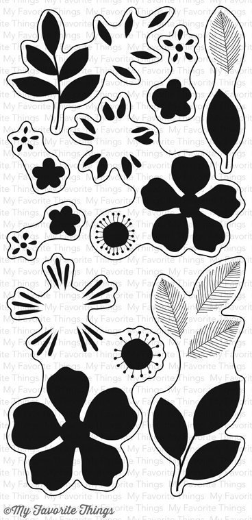 My Favorite Things FLASHY FLORALS Clear Stamp Set