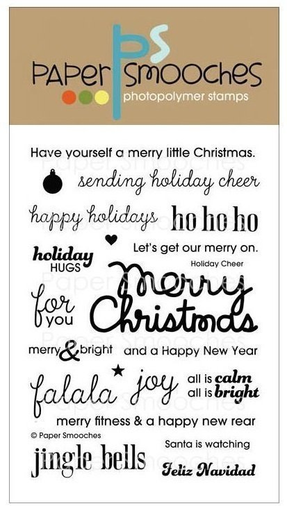 Paper Smooches HOLIDAY CHEER Stamp Set