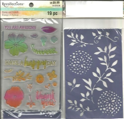 Recollections HAVE A HAPPY DAY Color Splash Stamp and Stencil