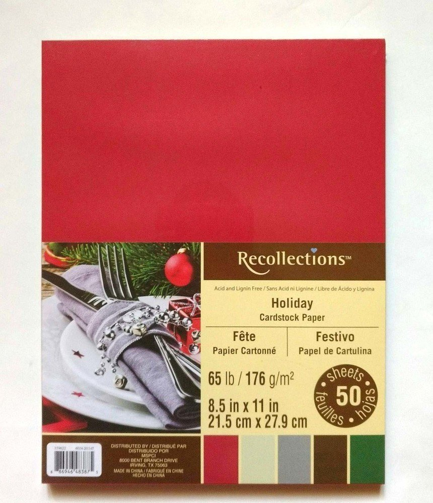 Recollections HOLIDAY Cardstock Paper