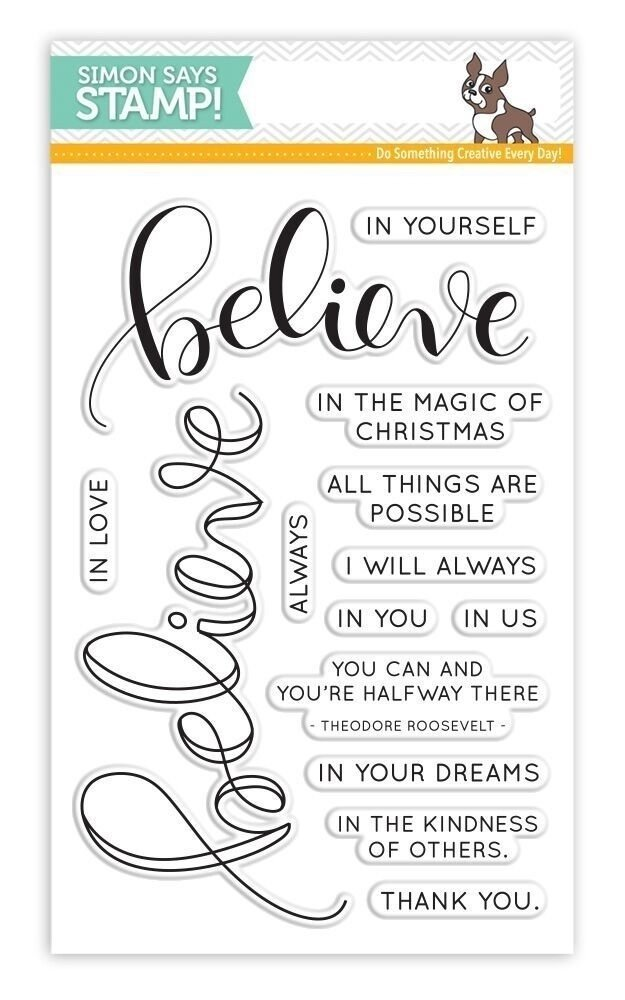 Simon Says Stamp BELIEVE Clear Stamp Set