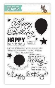 Simon Says Stamp BIRTHDAY BALLOONS Clear Stamp Set
