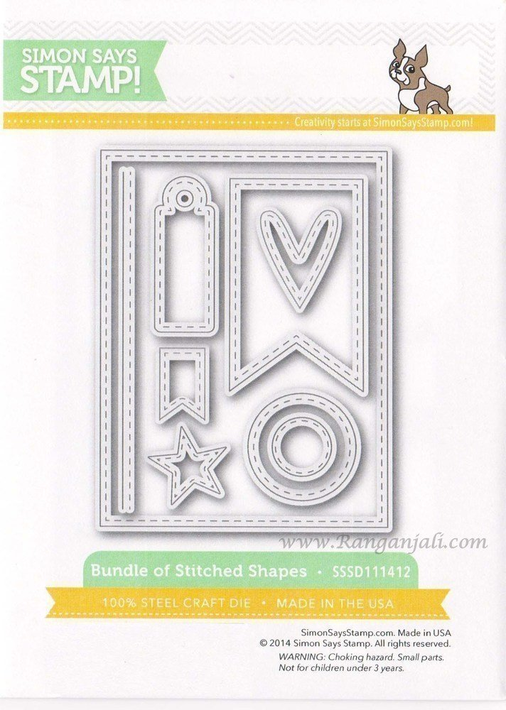 Simon Says Stamp BUNDLE OF STITCHED SHAPES Wafer Dies