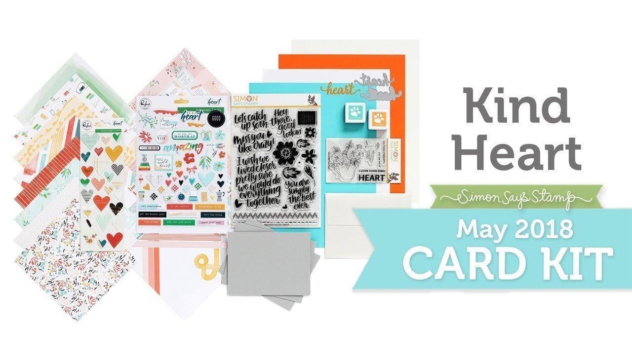 Simon Says Stamp Card Kit- MAY 2018 KIND HEART