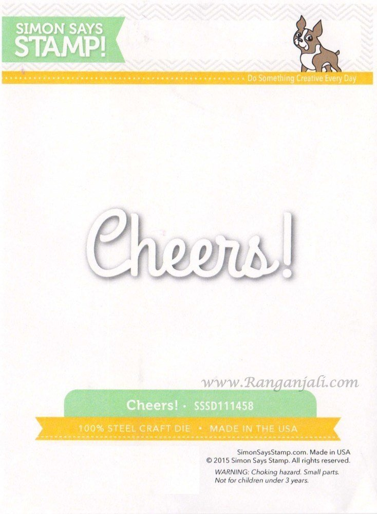 Simon Says Stamp CHEERS Wafer Thin Die