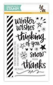 Simon Says Stamp HAND LETTERED WINTER WISHES Clear Stamp Set