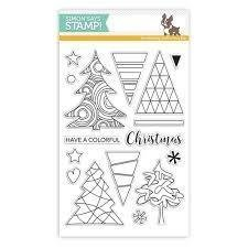 Simon Says Stamp COLOR ME TREES Clear Stamp Set
