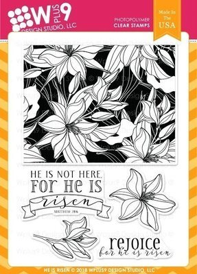 Wplus9 HE IS RISEN Clear Stamp Set