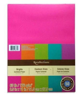 Recollections BRIGHTS Cardstock Paper