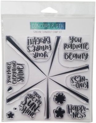 Concord & 9th SUNSHINE TURNABOUT Clear Stamp Set